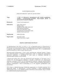 A 2012. évi költségvetés végrehajtásáról szóló rendelet ... - Tapolca