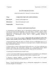 A talajterhelési díjról szóló rendelet módosítása - Tapolca