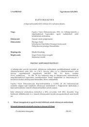 Tapolca Város Önkormányzata 2012. évi költségvetéséről, a ...