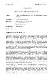 Tapolca Város Önkormányzata 2013. évi közbeszerzési tervének ...