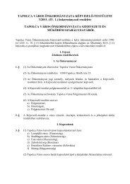 önkormányzati rendelete TAPOLCA VÁROS ÖNKORMÁNYZATA