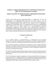 Tapolca város 2012. évi költségvetéséről, a végrehajtásával ...