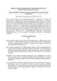 Tapolca város 2013. évi költségvetéséről, a végrehajtásával ...