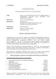 Tapolca Város Önkormányzata 2013. évi költségvetéséről, a ...