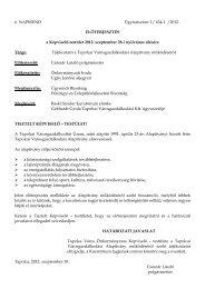Tájékoztató a Tapolcai Városgazdálkodási Alapítvány működéséről