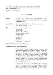 A nyilvános testületi ülés jegyzőkönyve - Tapolca