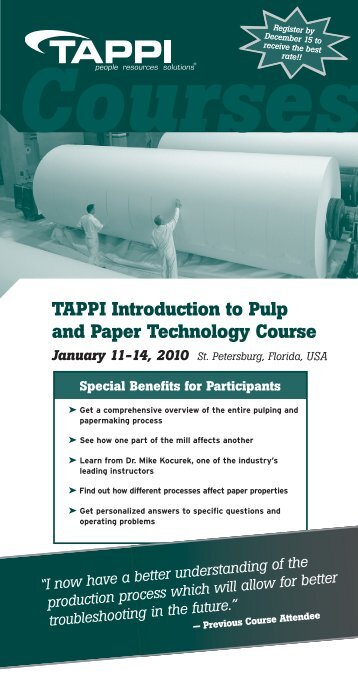 Course Brochure - tappi