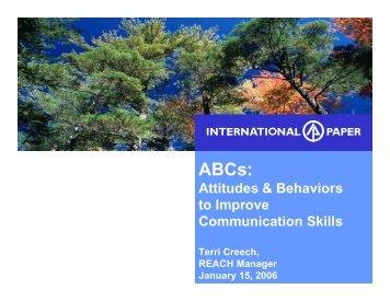 Attitudes & Behaviors to Improve Communication Skills - tappi