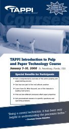 TAPPI Introduction to Pulp and Paper Technology Course