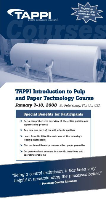 Paper technology course india