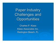 Klass–Paper Industry Challenges And Opportunities - tappi