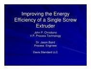 Improving the Energy Efficiency of a Single Screw Extruder - tappi