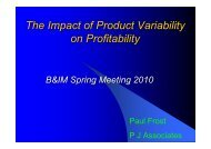 The Impact of Product Variability on Profitability - tappi