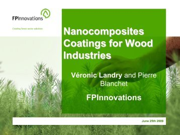 UV Nanocomposite High Solids and Waterborne Coatings for ... - tappi