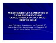 an extrusion study: examination of the improved processing - tappi
