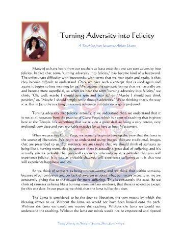 Turning Adversity into Felicity