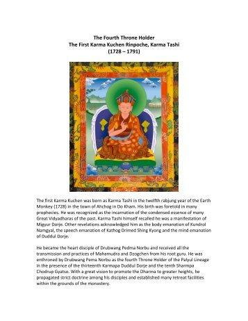 First Karma Kuchen Rinpoche Bio