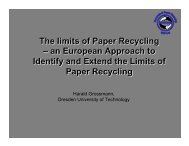 The limits of Paper Recycling – an European Approach to ... - tappi