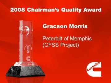 Gracson Morris Peterbilt of Memphis (CFSS Project) - Cummins