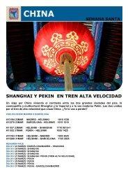 SHANGHAI Y PEKIN EN TREN ALTA VELOCIDAD - Viajes Tarannà