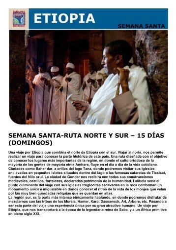 semana santa-ruta norte y sur – 15 días (domingos) - Viajes Tarannà