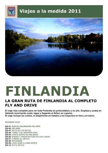 la gran ruta de finlandia al completo fly and drive - Viajes Tarannà