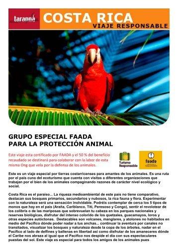 grupo especial faada para la protección animal - Viajes Tarannà