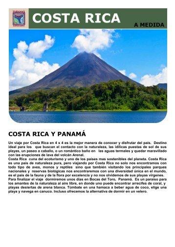 COSTA RICA Y PANAMÁ - Viajes Tarannà