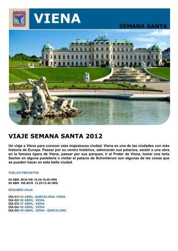 VIAJE SEMANA SANTA 2012 - Viajes Tarannà