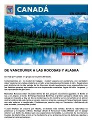 DE VANCOUVER A LAS ROCOSAS Y ALASKA - Viajes Tarannà