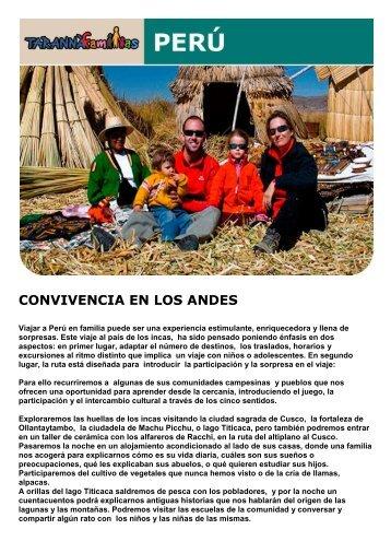 CONVIVENCIA EN LOS ANDES - Viajes Tarannà
