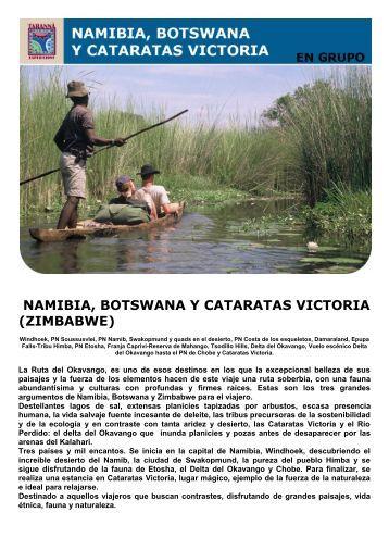 namibia, botswana y cataratas victoria (zimbabwe) - Viajes Tarannà