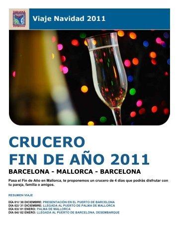 crucero fin de año 2011 barcelona - mallorca - Viajes Tarannà