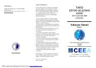 SolS Kurs Broşürü Ankara - TARD