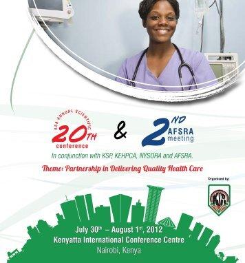 July 30th – August 1st, 2012 Kenyatta International ... - TARD
