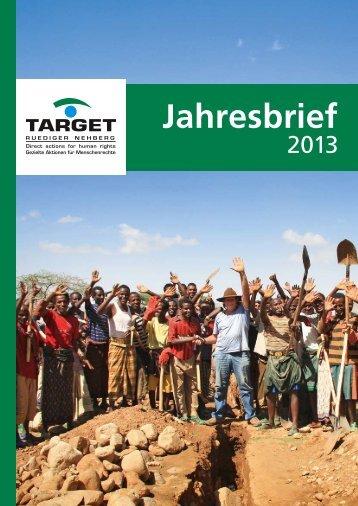 Jahresbrief 2013 (PDF) - TARGET e.V. Rüdiger Nehberg