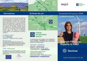 Energie-Effizienz- Experte in KMU - target GmbH