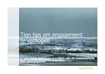 Tien tips om engagement te verhogen - Target Point