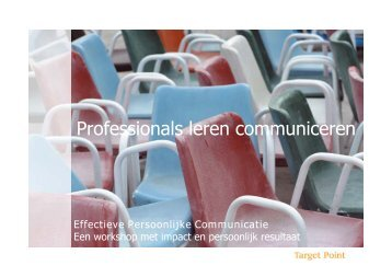 Professionals leren communiceren - Target Point