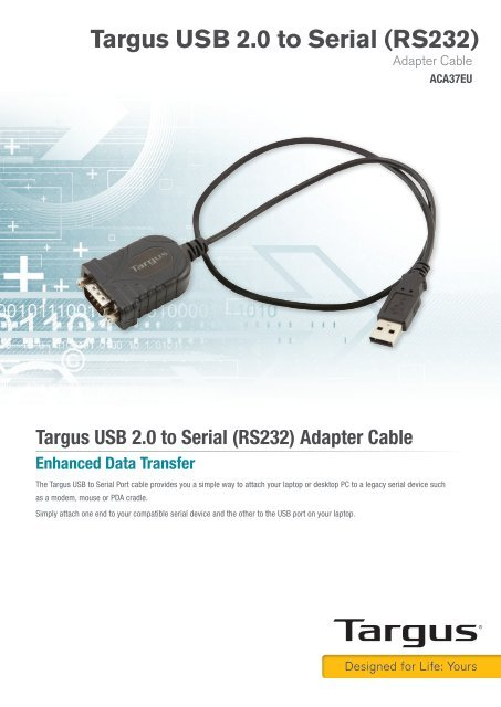 TARGUS SERIAL TO USB DRIVERS DOWNLOAD (2019)