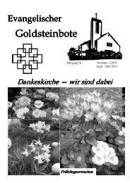 April-Mai 2011 - Dankeskirchengemeinde Goldstein