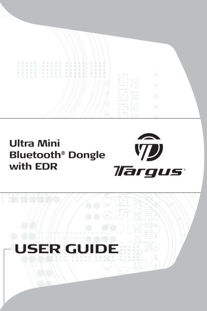 TARGUS BLUETOOTH DONGLE DRIVERS FOR PC
