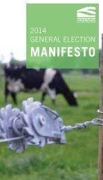 2014 Federated Farmers Manifesto