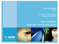 Profitables Wachstum - BASF