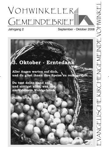 3. Oktober - Erntedank - Evangelische Kirchengemeinde Vohwinkel