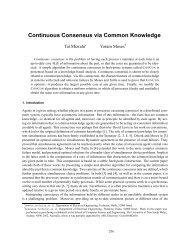 Continuous Consensus via Common Knowledge