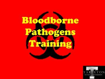 Bloodborne Pathogens Training - Tarleton State University