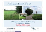 Dorferneuerung Tarmstedt Präsentation 6. Sitzung