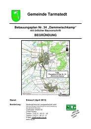 Begründung Bebauungsplan Nr. 34 Dammwischkamp