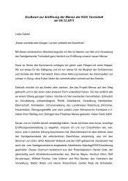 Grußwort zur Eröffnung der Mensa der KGS Tarmstedt am 06.12.2011
